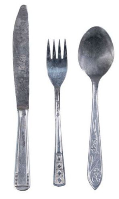Romanian Armed Forces Fork, Knife, Spoon Set