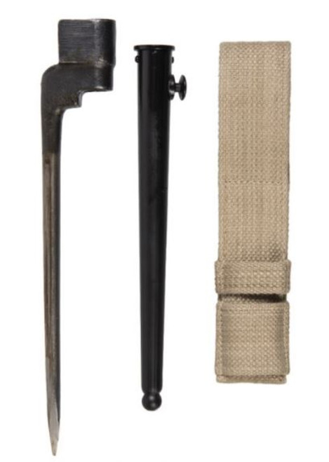 British Armed Forces Spike Bayonet W/ Scabbard & Frog
