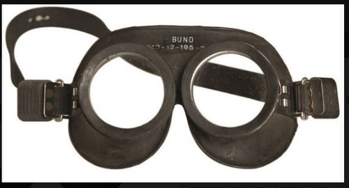 German Black Rubber Goggles