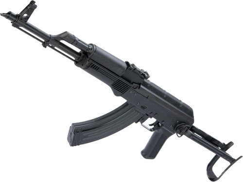 LCT Stamped Steel AKMS EBB AEG Rifle w/ Steel Underfolding Stock - Black Polymer Furniture)