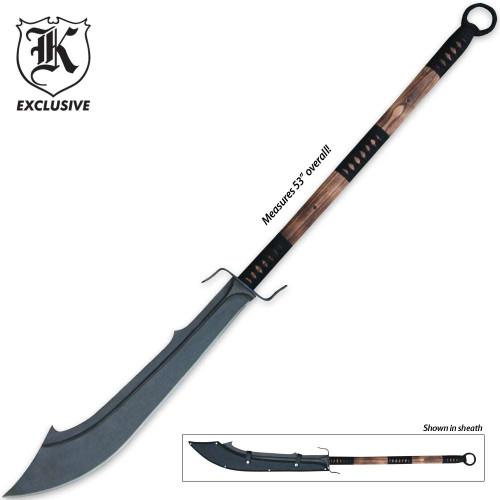 Forged Warrior Chinese War Sword w/Sheath