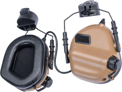 Earmor M31H MOD3 Tactical Communication Hearing Protector for ARC FAST MT Helmets (Color: Coyote Brown)
