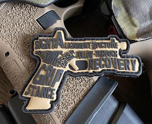 MUSA Pistol Fundamentals PVC Morale Patch