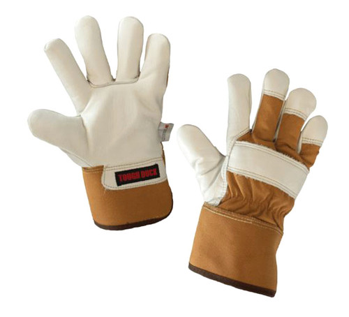 Premium Cowgrain Fitters Glove – Palm Lined (Brown) - 5 Pack