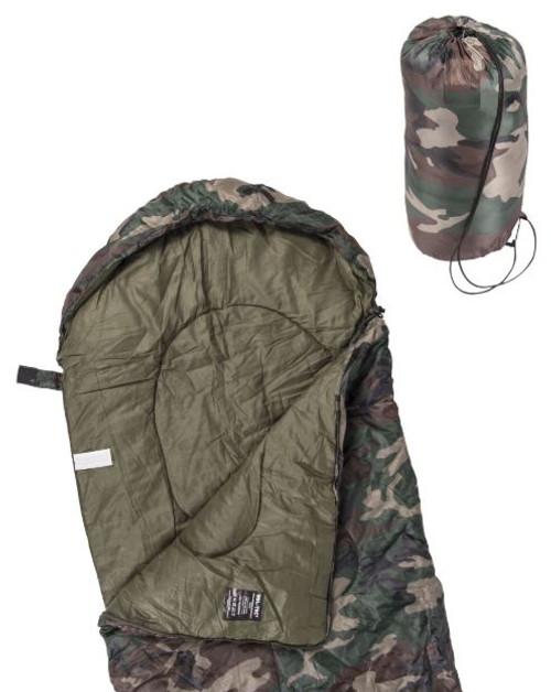 Mil-Tec Woodland Camo Lightweight Mummy Sleeping Bag