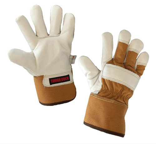 Premium Cowgrain Fitters Glove– Pile Lined (Brown) - 4 Pack