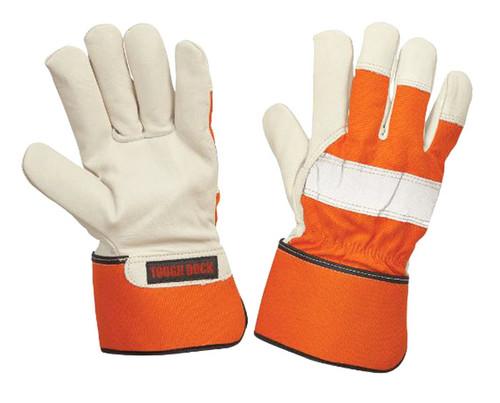 3M Thinsulate Insulation Lined Full Grain Hi-Vis Fitters Glove (Orange) - 4 Pack