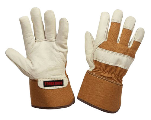 Women's 3M Thinsulate Lined Cowgrain Fitters Glove (Cream) -5 Pack