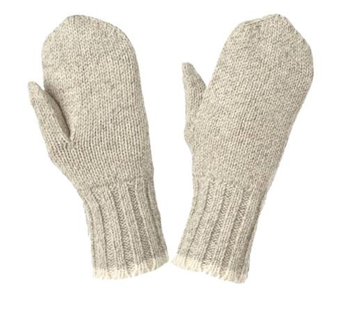 Brushed Rag Wool Lined Mitt (Oatmeal) - 5 Pack