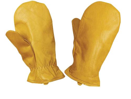 Cowgrain Pile Lined Mitt – Youth (Tan) - 5 Pack
