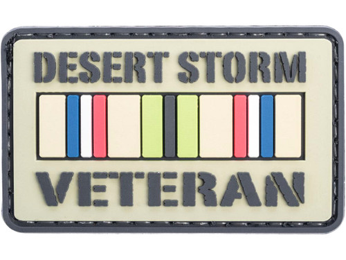 """Voodoo Tactical """"Desert Storm Veteran"""" PVC Hook and Loop Morale Patch"""