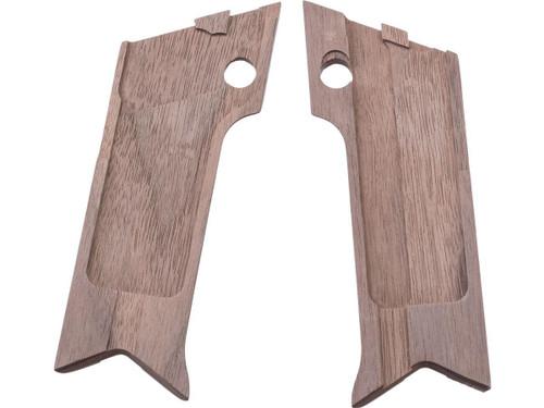 Marushin Real Wood Grip Panel Set for Marushin Nambu Type 14 Gas Blowback Airsoft Pistols