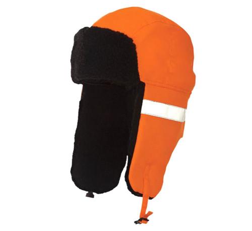 Hi-Vis Aviator Hat (Fluorescent Orange) - 5 Pack