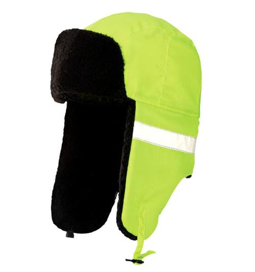 Hi-Vis Aviator Hat (Fluorescent Green) - 5 Pack