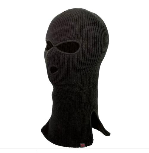 Acrylic 3 Hole Face Mask (Black) - 10 Pack
