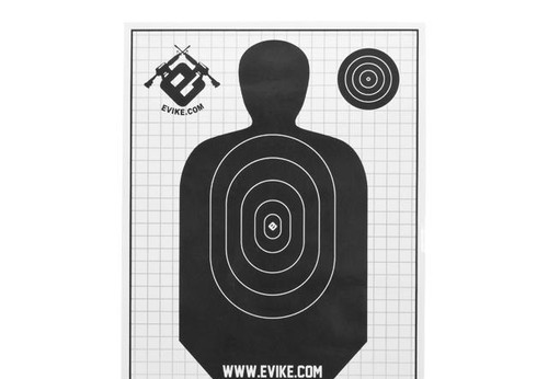 Evike Professional Paper Range Target - Pack of 10