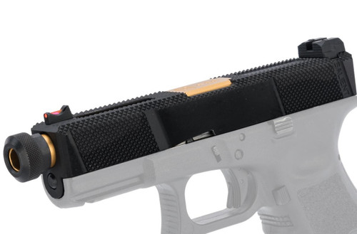 EMG SAI Utility Slide Set for GLOCK 19 Gen.3 Series GBB Pistols (Type: Black Slide / Gold Barrel)