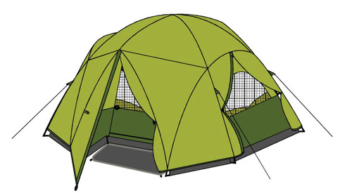 Trailside Sierra 6 Person Tent