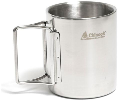 Chinook Timberline Double-Wall Mug with Folding Handle