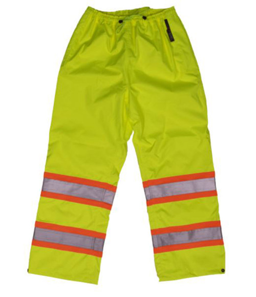 Safety Rain Pant (Fluorescent Green) - 2 Pack
