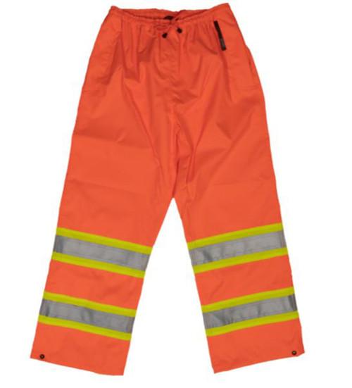 Safety Rain Pant (Fluorescent Orange) - 2 Pack