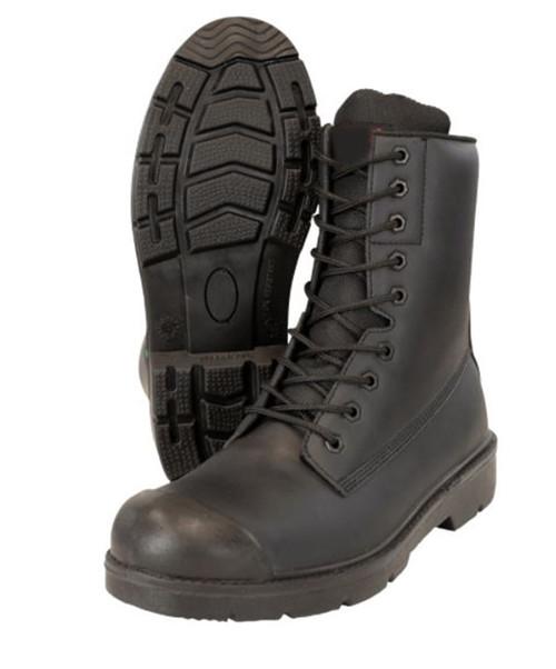 Inkster 8″ Microfibre Steel Toe Work Boot (Black)