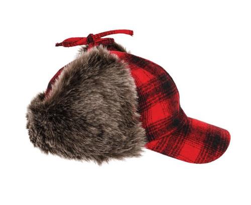 Plaid Fudd Hat (Red Plaid) - 5 Pack