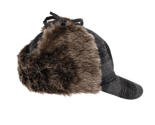 Plaid Fudd Hat (Grey Black Plaid) - 5 Pack