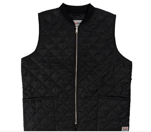 Work King Quilted Freezer Vest (Black) - 3 Pack