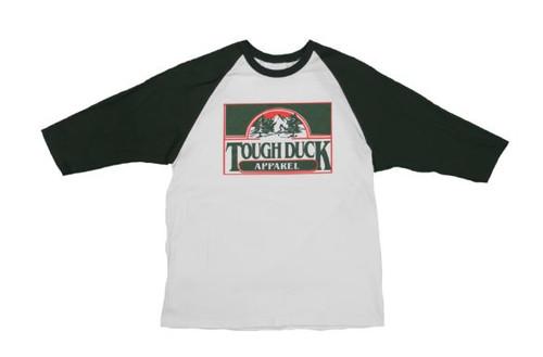 Forest Throwback Baseball T-Shirt (White Green) - 3 Pack