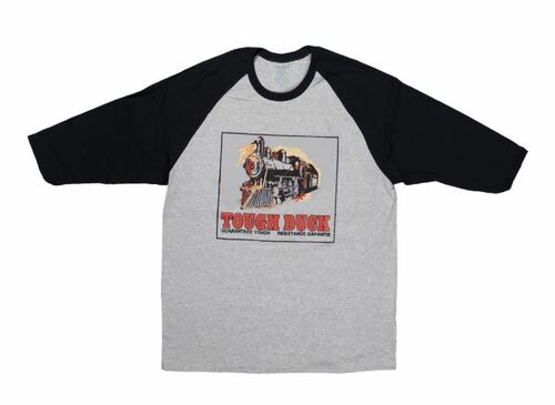 Locomotive Throwback Baseball T-Shirt (Grey Black) - 3 Pack