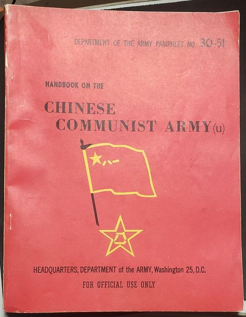 US Armed Forces Training Manual - Handbook on the Chinese Communist Army