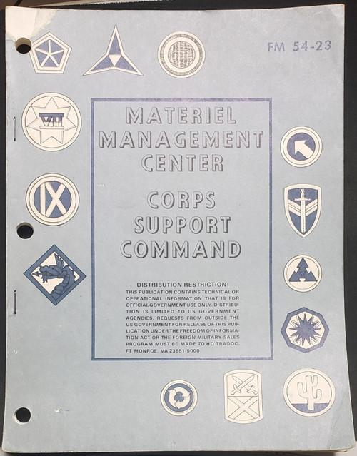 US Armed Forces Training Manual - Materiel Management Center FM