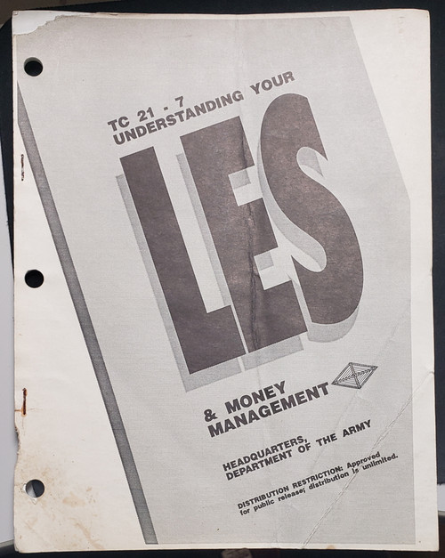 US Armed Forces Field Manual - Understanding Your LES & Money Management (1992)