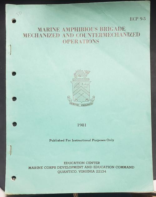 US Armed Forces Field Manual - Marine Amphibious Brigade (1981)