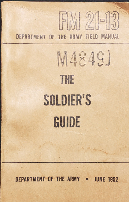 US Armed Forces Field Manual - The Solder's Guide (1952)