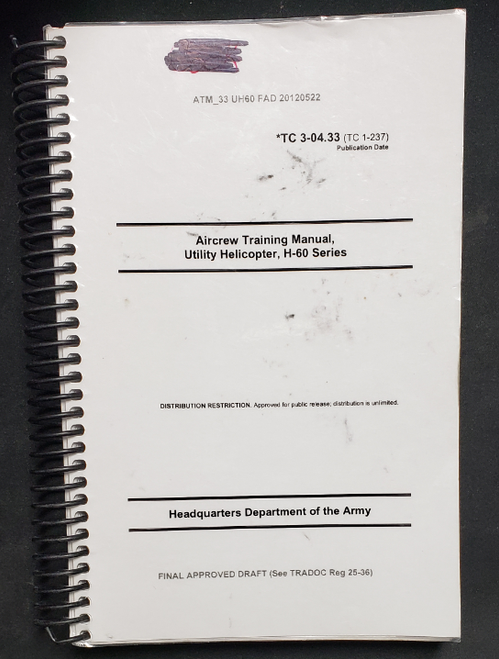 US Armed Forces Field Manual - Aircrew Training Manual Utility Helicopter (2012)
