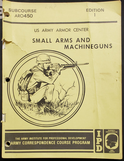 US Armed Forces Training Manual - Small Arms and Machineguns (1981)