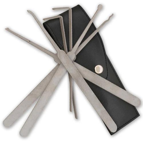 6 Piece Lockpicking Kit w/ Faux Leather Case