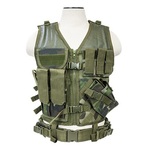 VISM Tactical Vest (Woodland Camo)