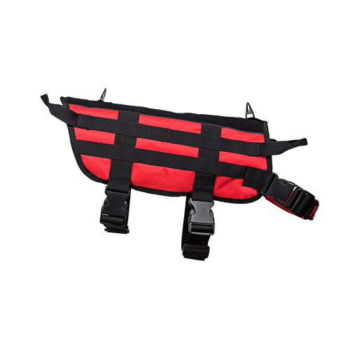 VISM K9 Tactical Vest (Red with Black Trim)