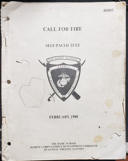 US Armed Forces Field Manual - Call For Fire (1988)