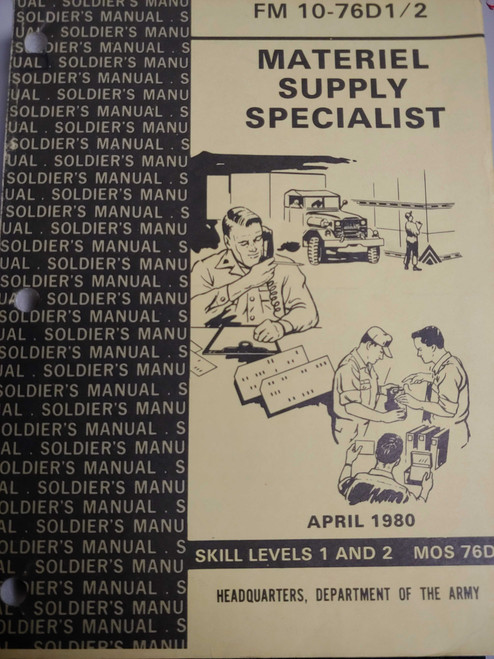 US Armed Forces Manual - Material Supply Specialist