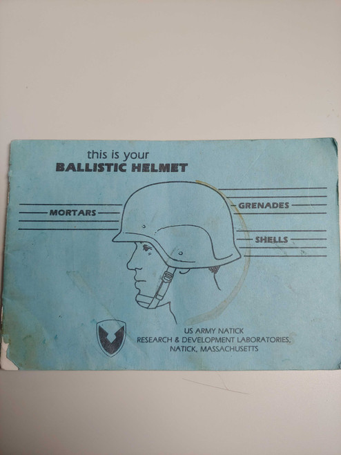 US Armed Forces Manual - this is your BALLISTIC HELMET