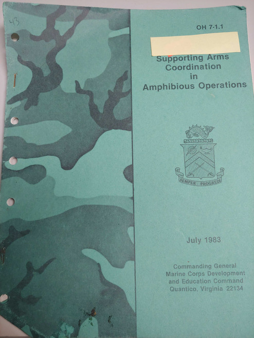 US Armed Forces Manual - Supporting Arms Coordination in Amphibious Operations