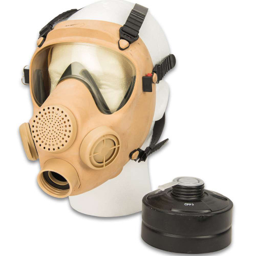 Polish Tan MP5 Gas Mask w/ Filter - As Is