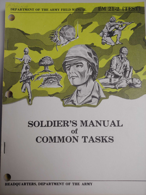 US Armed Forces Manual - Soldiers's Manual of Common Tasks