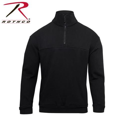 Firefighter / EMS Heavy Duty 1/4 Zip Workshirt - Black