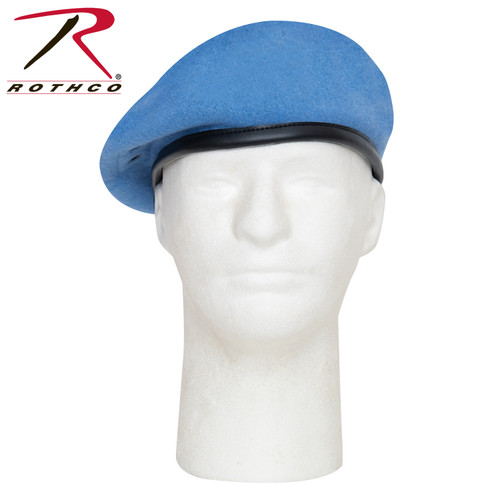 Beret - G.I. Style Wool Light Blue