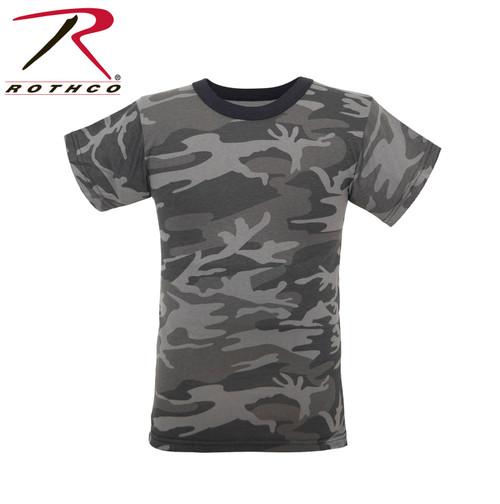 Kids Camo T-Shirt - Black Camo